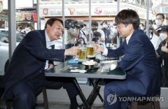 이준석·윤석열, 치맥 회동···정권교체 목표에 '대동소이'