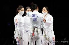 한국 펜싱 여자 에페, 런던 이후 9년 만에 단체전 은메달