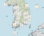 [내일날씨]전국 흐리고 비···낮 최고 35도