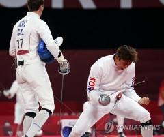 도쿄 올림픽 정진화, 남자 근대5종 펜싱 랭킹 라운드 5위