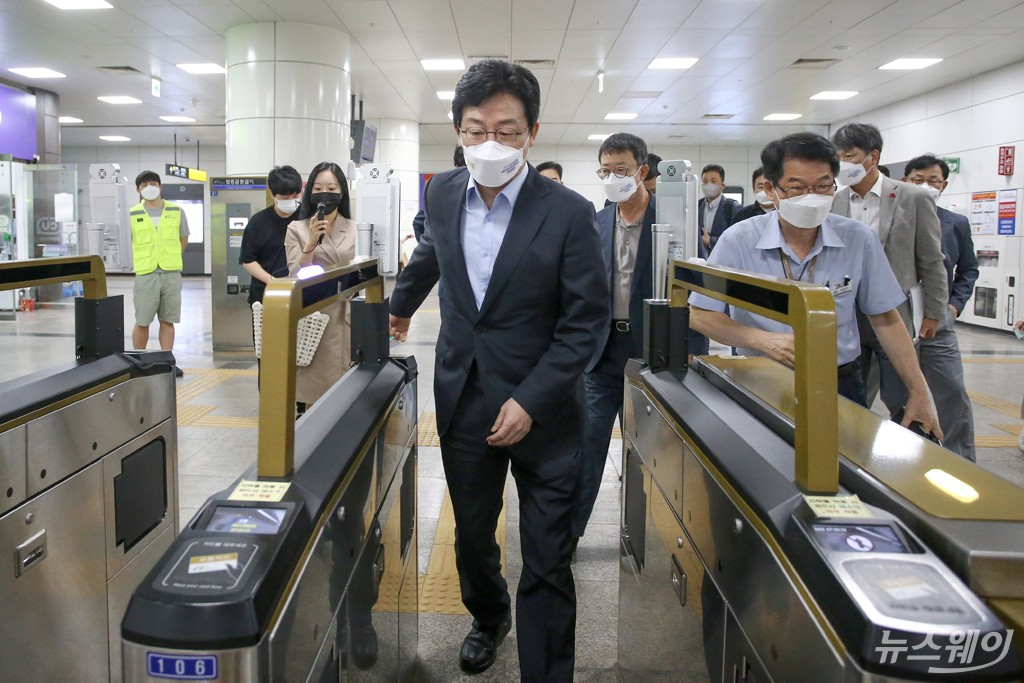 [NW포토]유승민, GTX-D 연장 관련 김포 도시철도 현장방문