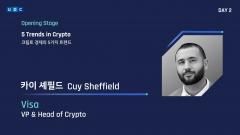 UDC 2021···카이 셰필드 Visa 부사장, '크립토 경제' 5가지 트렌드 소개