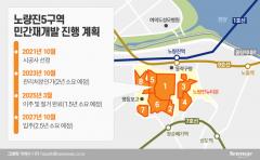 """""""무혈입성 막아라""""···노량진5구역 입찰 연기한 사연"""