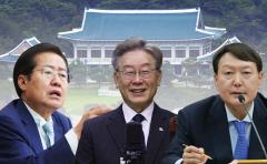 """""""이재명 43% vs 윤석열 40.4%···홍준표 40.7% vs 이재명 40.6%"""""""
