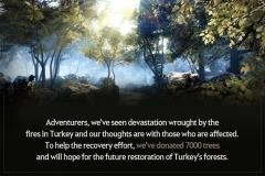 펄어비스, 검은사막 이용자와 터키에 묘목 7000그루 기부