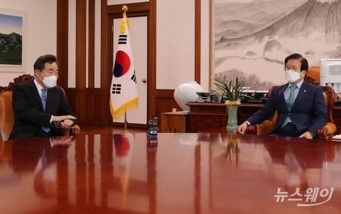 이낙연, 박병석 국회의장 면담