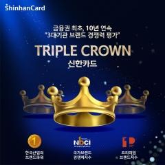 신한카드, 금융업계 최초 10년 연속 트리플크라운 달성
