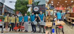 마사회 강동지사, 추석맞이 지사 인근 상점가 방역·환경정화 봉사활동