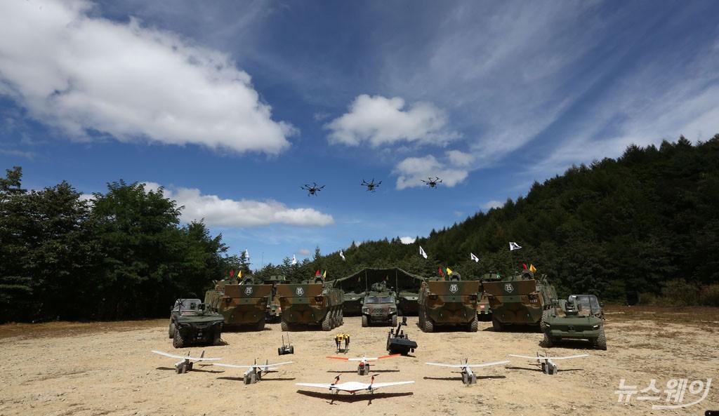 [NW포토]'AI·드론·로봇' 활용한 첨단과학화 'Army TIGER 4.0'
