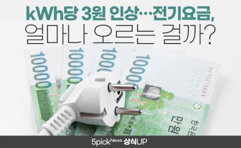kWh당 3원 인상···전기요금, 얼마나 오르는 걸까?