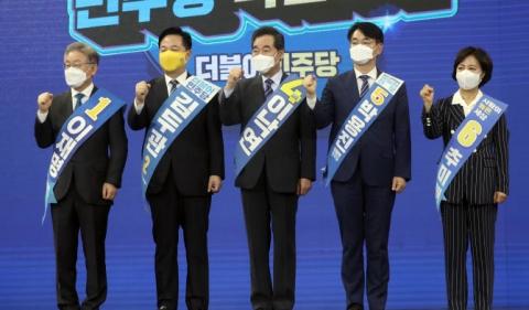 전북 경선 최종득표율···이재명 54.5% '압승' 이낙연 38%