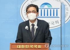 """'아들 화천대유 퇴직금 50억' 곽상도, 의원직 사퇴 표명···""""수사로 밝혀질 것"""""""
