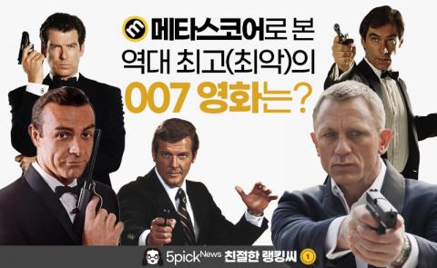 우리가 사랑한 스파이들···역대 007 영화 평점 순위 전격공개