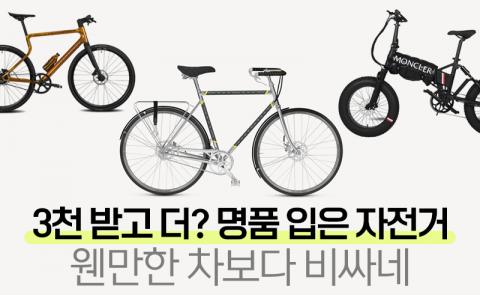 3천 받고 더? 명품 입은 자전거, 웬만한 차보다 비싸네