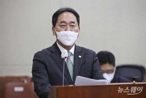 """[2021 국감]김태현 """"예보 한도 상향 찬성···우리금융 처분, 'DLF 판결' 이후""""(종합)"""