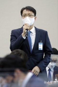 [NW포토]답변하는 박대준 쿠팡 대표