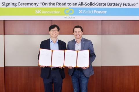 SK이노, 美솔리드파워에 350억 투자···차세대 전고체 배터리 개발