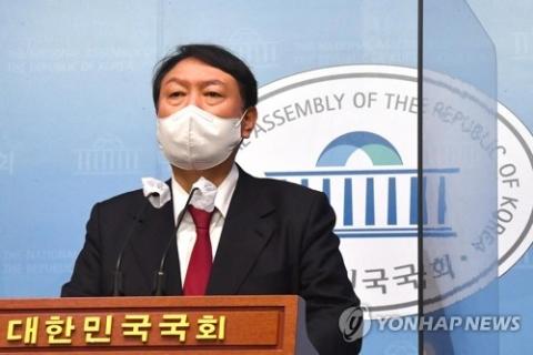 """윤석열 """"'문재명' 세력과 투쟁""""···싸늘해진 여론에 막판 지지 호소"""